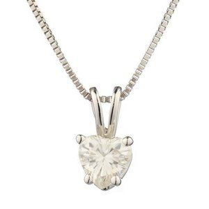 Jewelry - 2 carat prong setting heart cut diamond pendant so